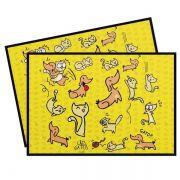 Jogo Americano com 2 peças Divertido Cozinha Cães e Gatos