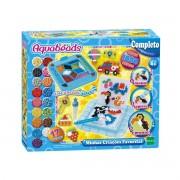 Kit Aquabeads Minhas Criações Favoritas + Refil Beads Brilhantes