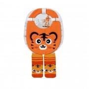 Kit Babador + meia para Bebê Infantil mesma estampa Colorido 4 a 8 meses
