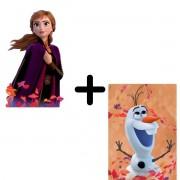Kit com 2 Quebra cabeças Frozen 2 Anna e Olaf