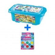 Kit Combo Aquabeads Caixa Safari + Conjunto Beads Brilhantes