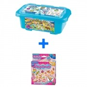 Kit Combo Aquabeads Caixa Safari + Conjunto Doceria