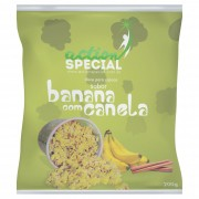 Mistura para pipoca doce gourmet Sabor Banana com Canela 1kg