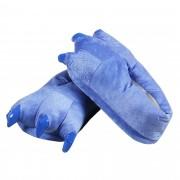 Pantufa Pata Stitch Lilo Azul Confortável