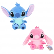 Pelúcia Casal Stitch e Angel Namorados Disney