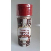 Pipoca De Cinema Kit Com 05 Temperos Salgados Sabor Bacon