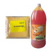 Pipoca de cinema kit oleo sabor manteiga e sal micronizado