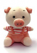 Porquinho Rosa Pelucia para Bebês Love