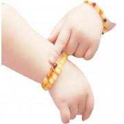 Pulseira Tornozeleira de Âmbar para Bebês para Dentição