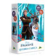 Quebra Cabeça Infantil Frozen 2  Olaf Kristoff e Sven 60 peças