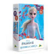 Quebra Cabeça Infantil Frozen 2  Princesa Elsa 60 peças