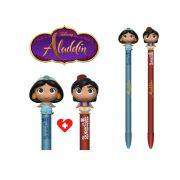 Set de 2  Canetas  Funko Pen Topper Disney Aladin e Jasmine