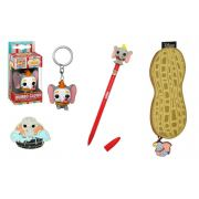 Set Dumbo Disney Funko Caneta, Pop Chaveiro, Porta Moedas e Pin