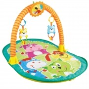 Tapete de ginástica para bebê interativo e colorido