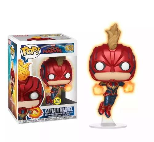 Funko Pop Capita Marvel Glows In The Dark Exclusivo Target  - Game Land Brinquedos
