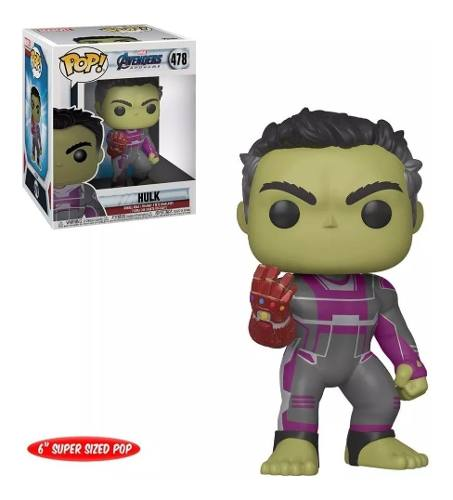 Funko Pop Marvel Avengers Endgame Hulk 16 Cm # 478  - Game Land Brinquedos