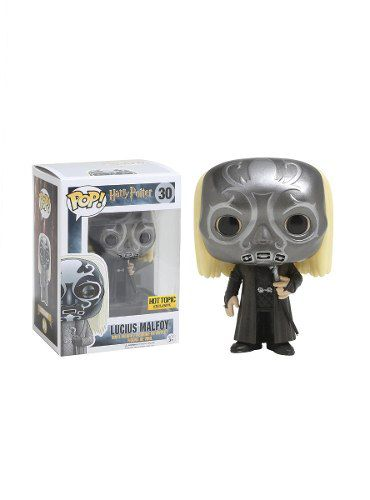 Funko Pop Lucius Malfoy Mascara Comensal Da Morte Hot Topic  - Game Land Brinquedos