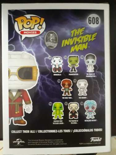 Funko Pop Monsters The Invisible Man # 608  - Game Land Brinquedos