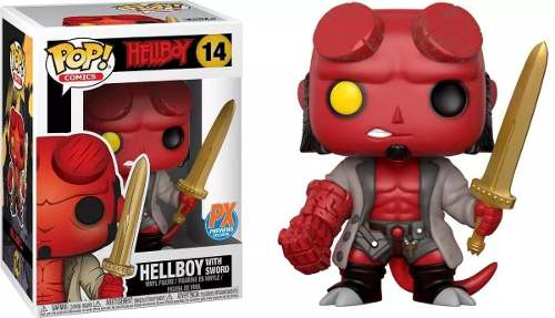 Funko Pop Hellboy Excalibur Exclusivo Px # 14  - Game Land Brinquedos