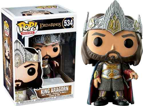 Funko Pop King Aragorn Exclusivo Lord Of The Rings  - Game Land Brinquedos