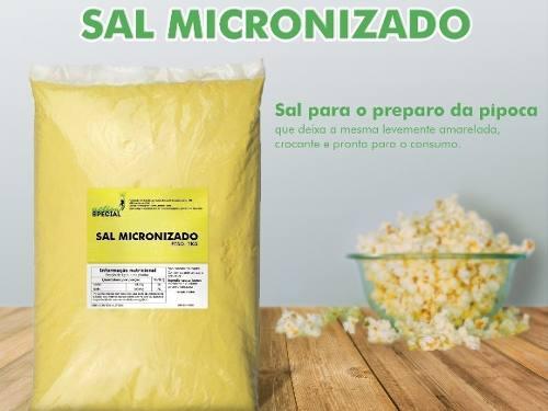 Sal Profissional Micronizado 1kg - Sabor Pipoca De Cinema  - Game Land Brinquedos