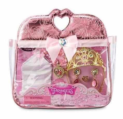 Disney Parque Bolsa Com Conjunto De Acessórios Das Princesas  - Game Land Brinquedos