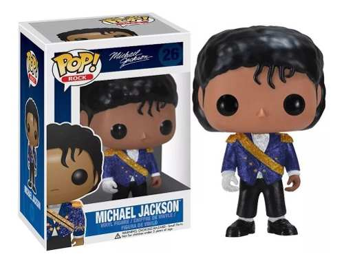 Funko Pop Rocks Michael Jackson Military Grammy # 26  - Game Land Brinquedos