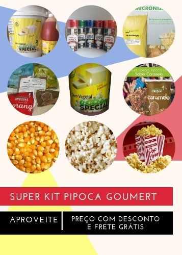 Super Kit Pipoca Gourmet com 15 Itens Filme com Pipoca  - Game Land Brinquedos