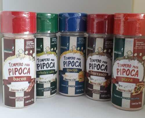 Pipoca Gourmet Kit Sal Especial Óleo Sabor Manteiga Temperos Milho Premium  - Game Land Brinquedos