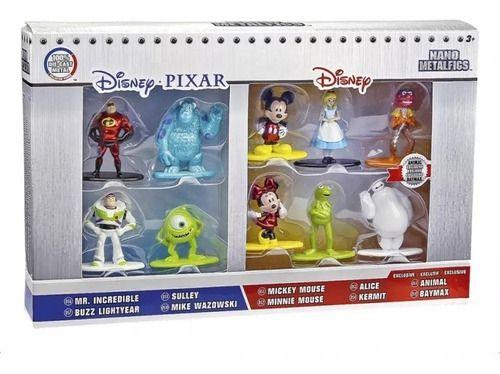 Kit Personagens Disney Pixar Metalfigs Com 10 Personagens  - Game Land Brinquedos