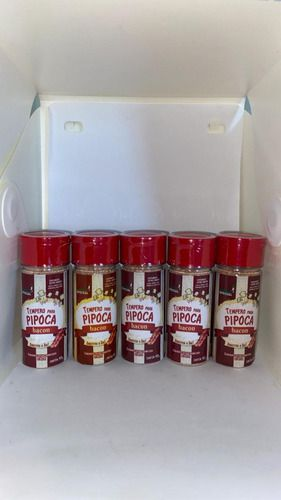 Tempero Pipoca Gourmet Salgada Sabor Bacon com 5 Unidades de 90 Gramas  - Game Land Brinquedos