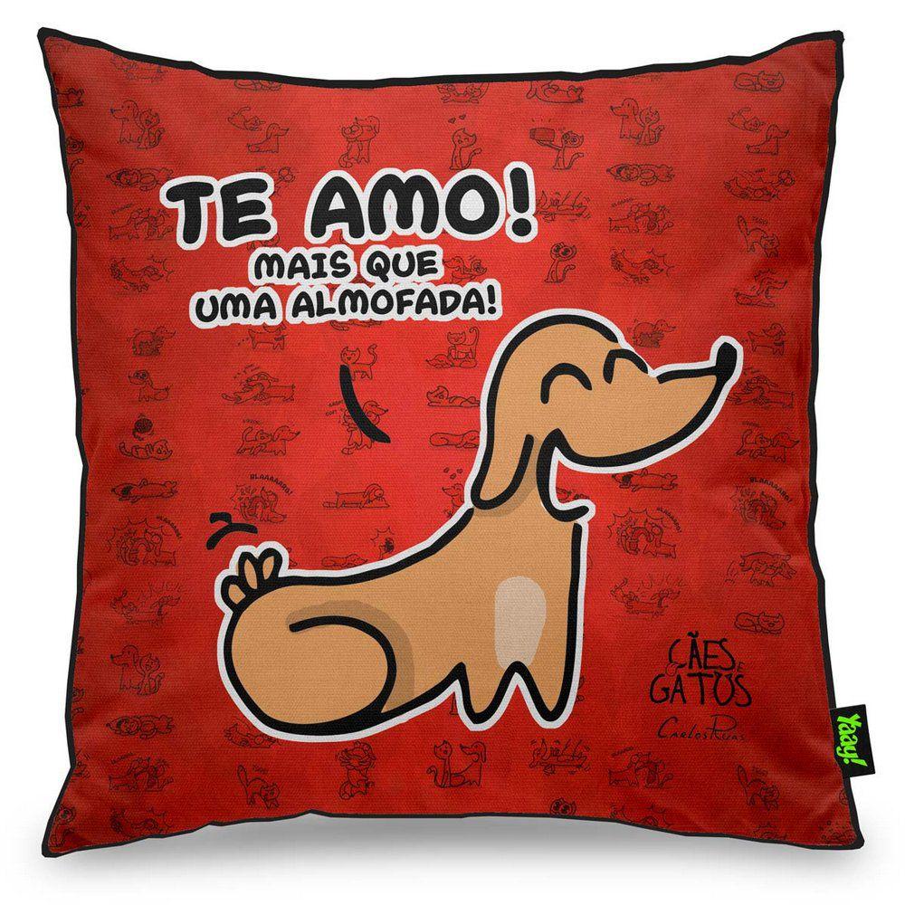 Almofada USQ Cachorrinho Te Amo Mais que uma Almofada Pets Divertidos  - Game Land Brinquedos