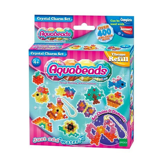 Aquabeads Brinquedo Refil Conjunto Crystal Charm Set Epoch 79288  - Game Land Brinquedos