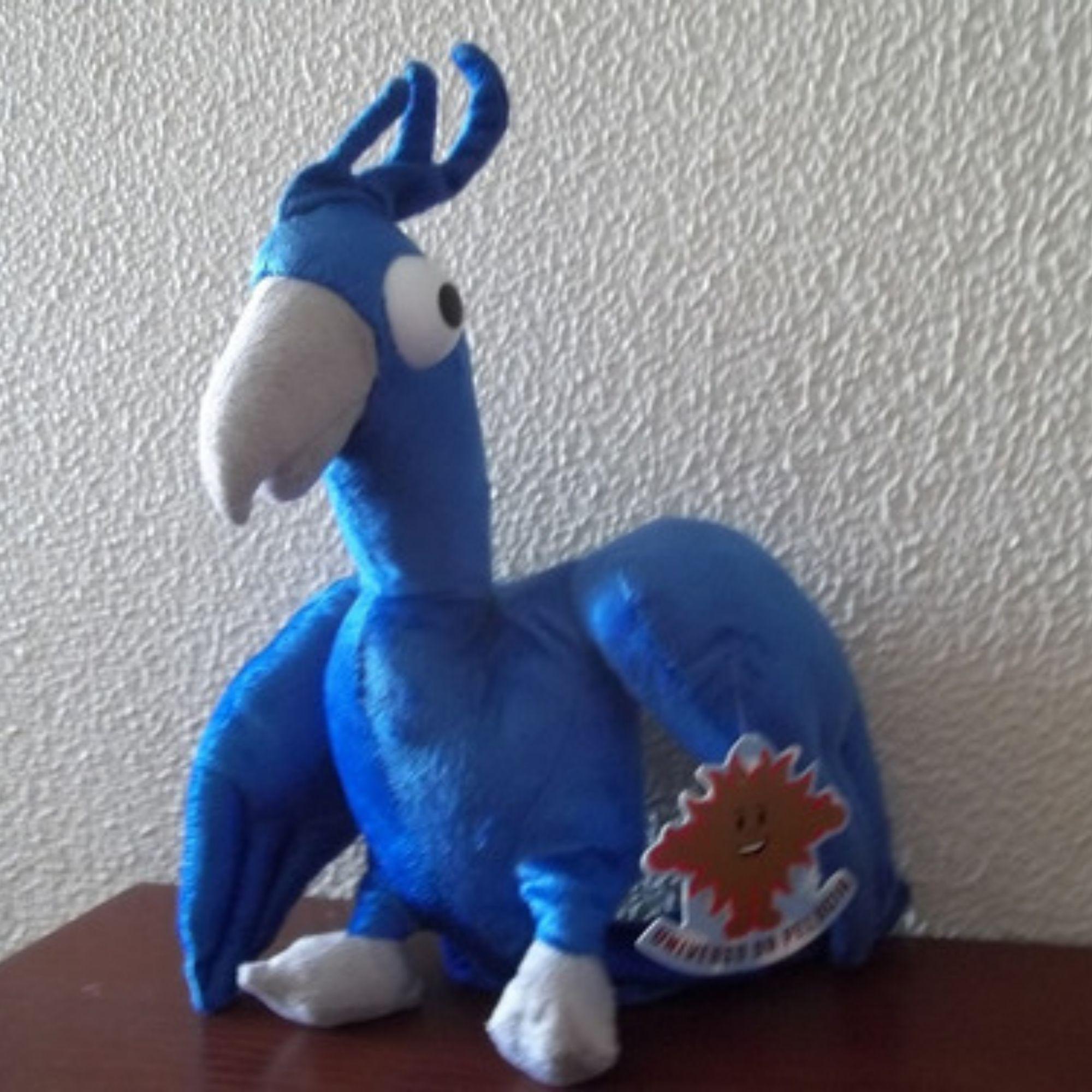 Arara Azul de Pelúcia Porta Presente  30 cm  - Game Land Brinquedos