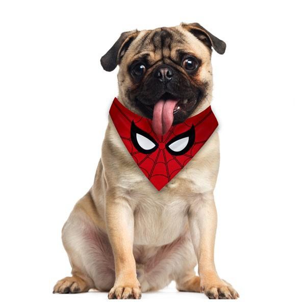 Bandana Pet Homem Aranha Gatos e Cachorros Dupla Face  - Game Land Brinquedos