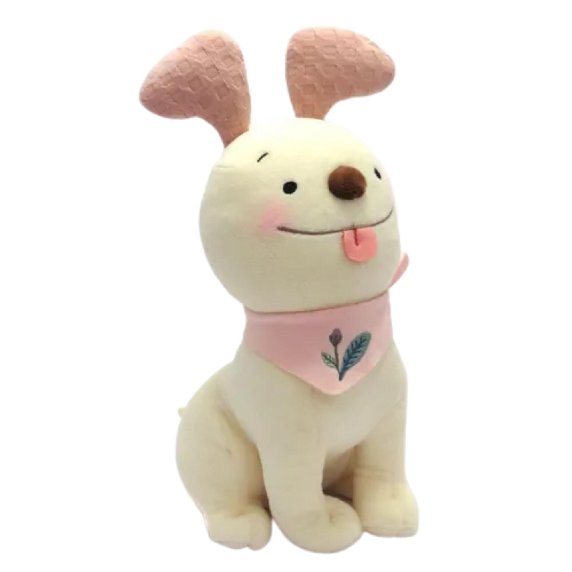 Bicho de Pelúcia Cachorrinho Fofo  Metoo Rosa   - Game Land Brinquedos