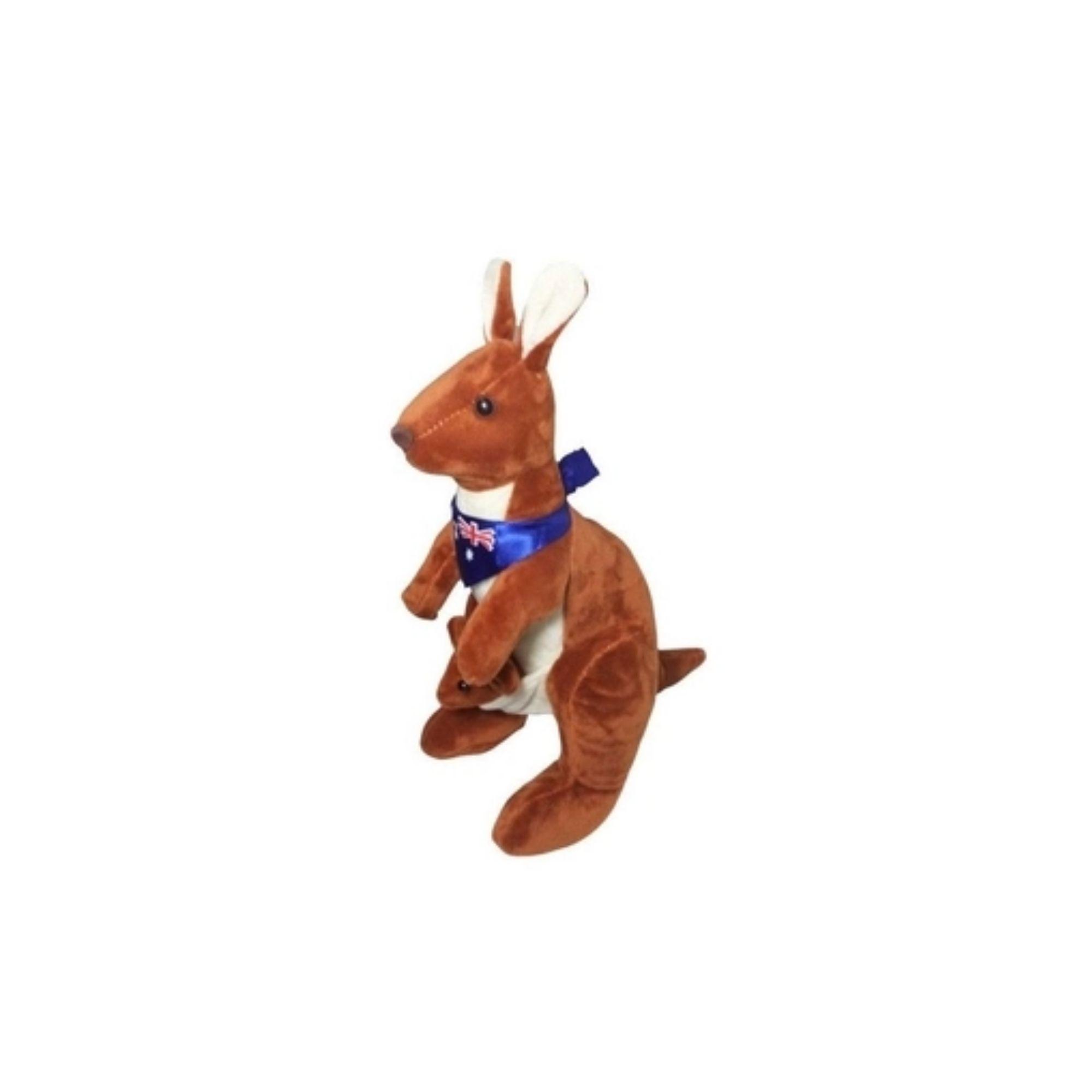 Bicho de Pelucia Canguru com Filhote de bandana   - Game Land Brinquedos