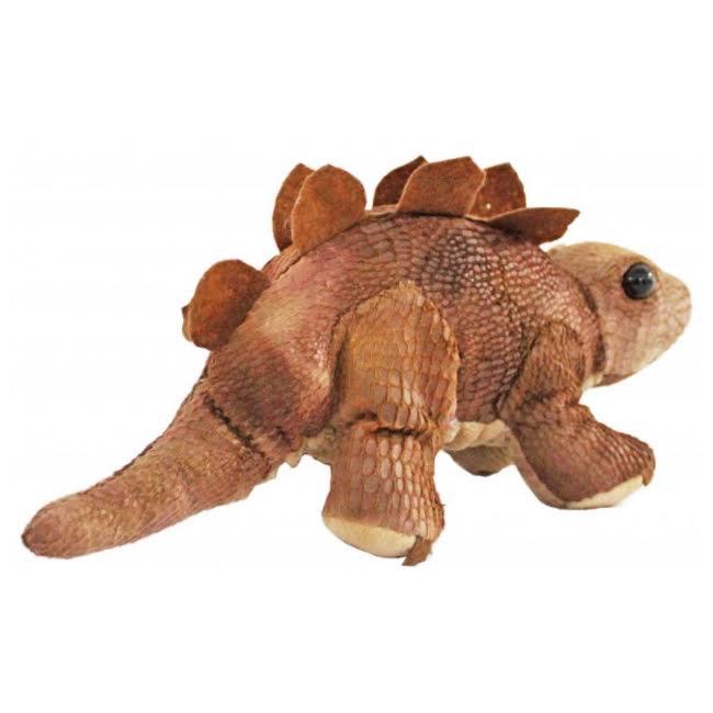 Bicho de Pelúcia Dinossauro Marrom Stegosauru Antialérgica  - Game Land Brinquedos