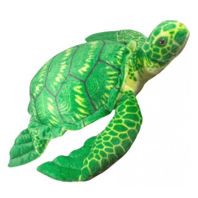 Bicho de Pelucia Tartaruga Grande Verde Antialérgica   - Game Land Brinquedos