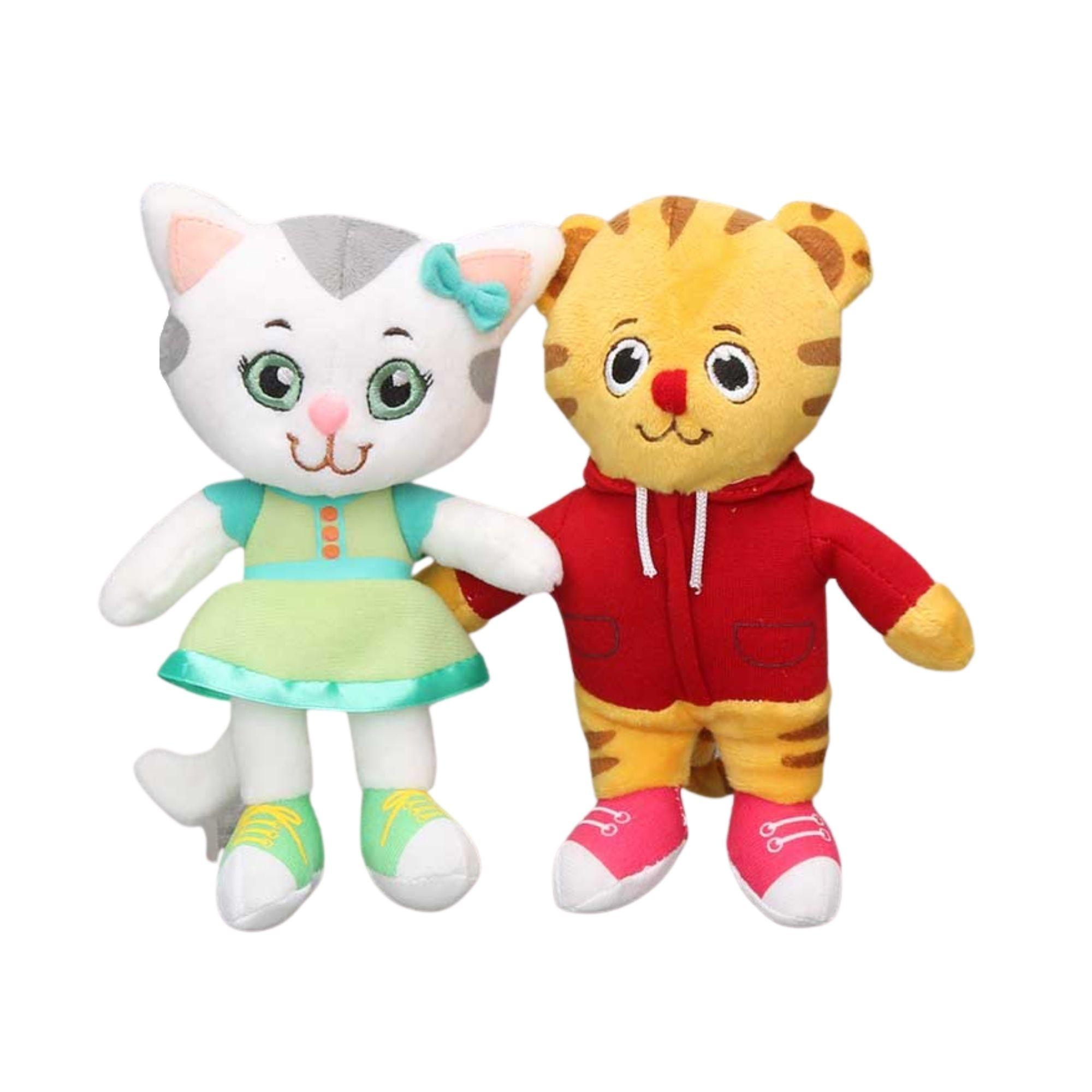 Boneco de Pelucia Daniel Tiger e Katerina Kittycat  - Game Land Brinquedos