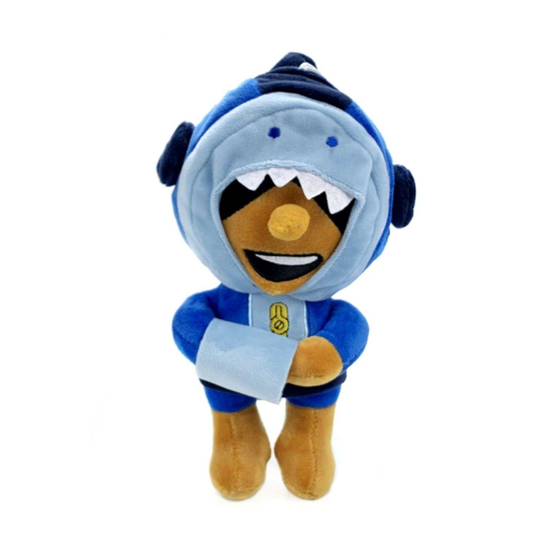 Boneco de Pelúcia  Shark Leon (Skin) do Jogo Brawl Stars  - Game Land Brinquedos