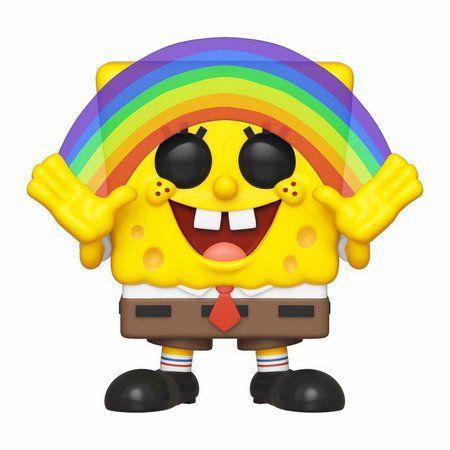 Boneco Funko Pop Bob Esponja Spongebob Arco Iris meme 558  - Game Land Brinquedos