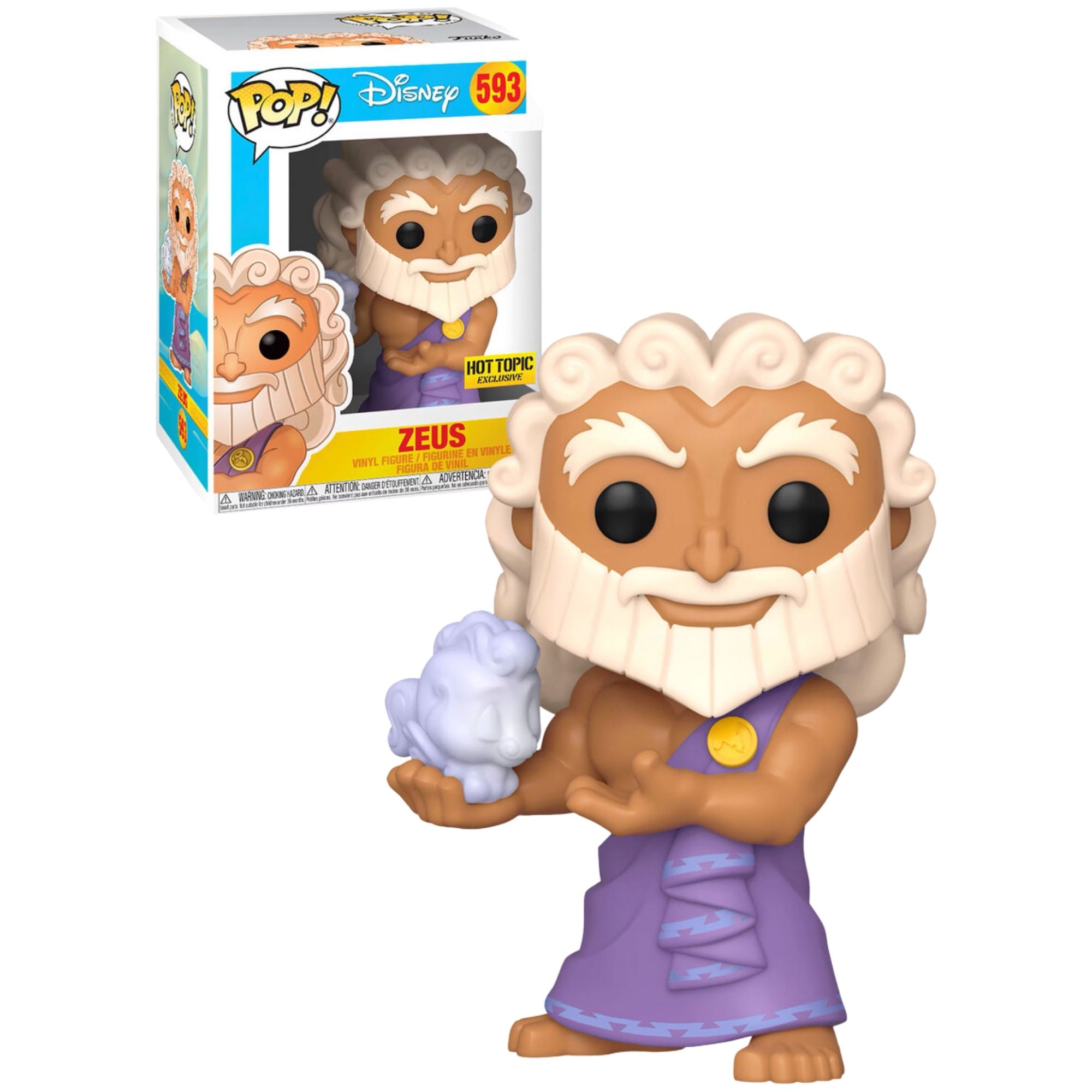 Boneco Funko Pop Disney Zeus Hot Topic #593 - Game Land Brinquedos