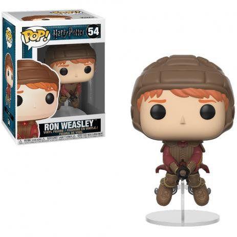 Boneco Funko Pop Harry Potter Ron Weasley On Broom   - Game Land Brinquedos