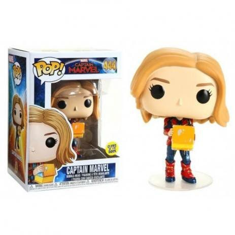 Boneco Funko Pop Marvel Captain Marvel Brilha no escuro  - Game Land Brinquedos