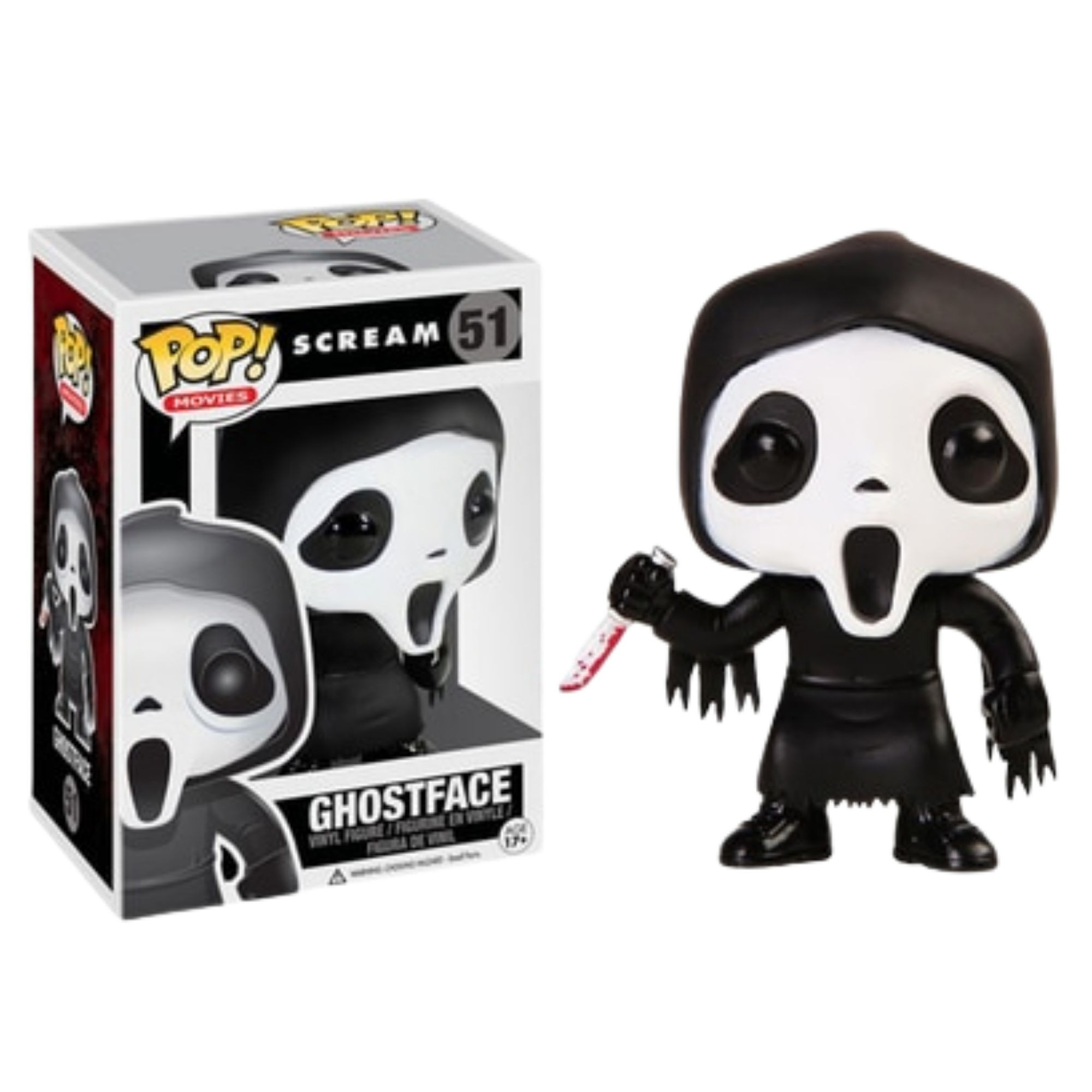 Boneco Funko Pop Movies Ghost Face Scream #51  - Game Land Brinquedos