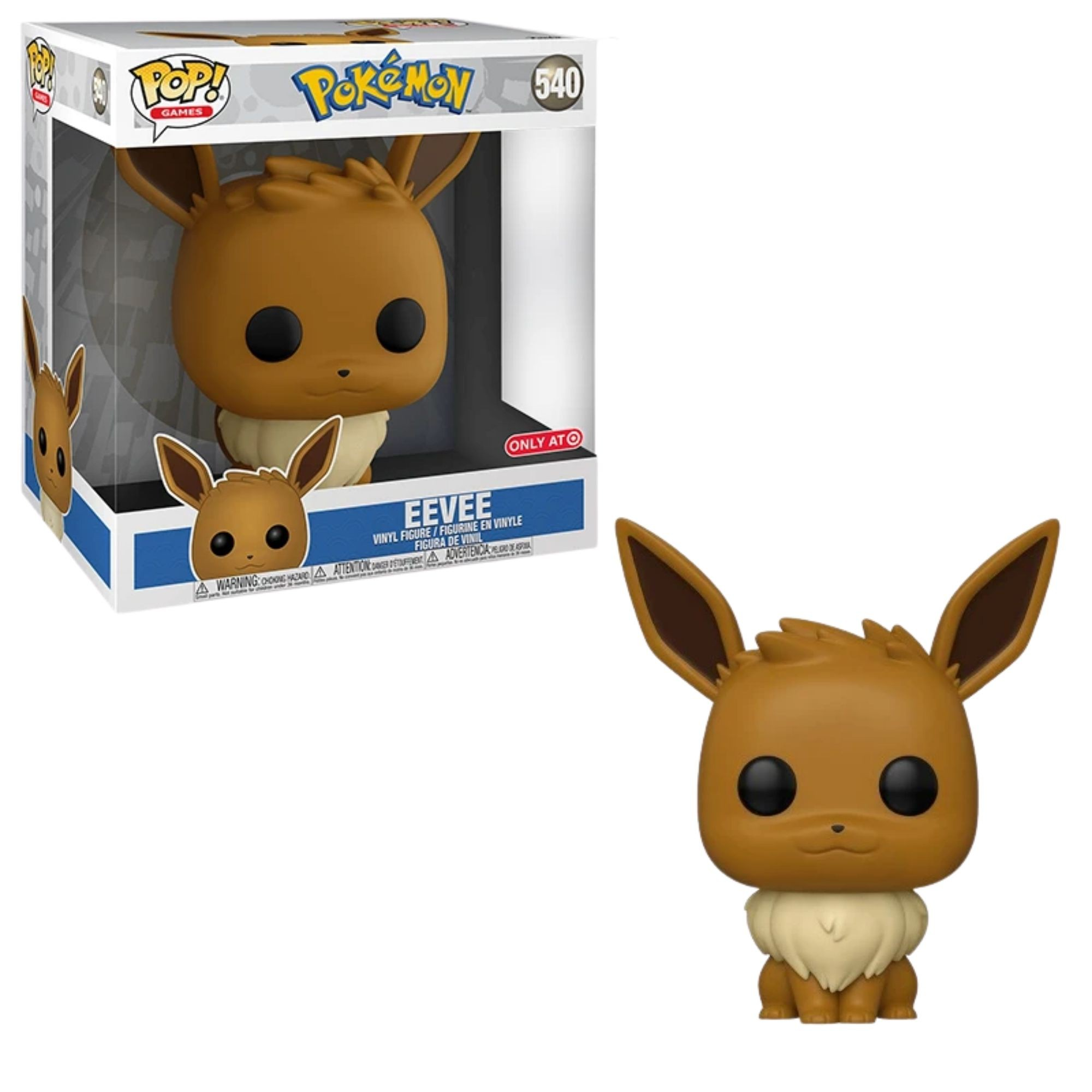 Boneco Funko Pop Pokemon Eevee Exclusivo Target  27 cm #540  - Game Land Brinquedos