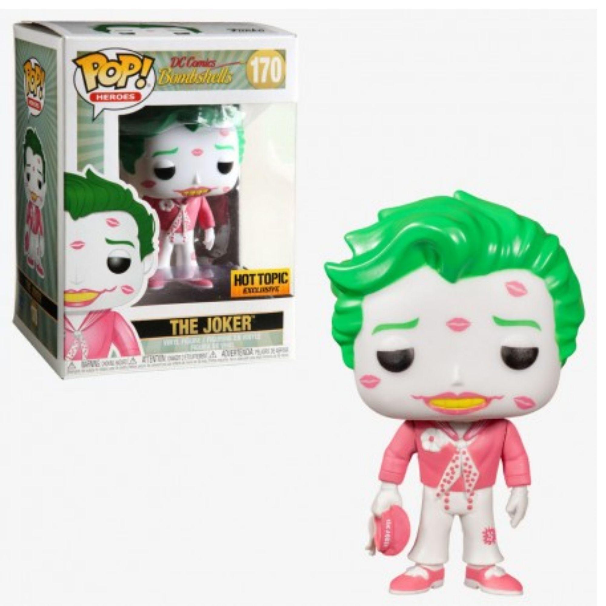 Boneco Funko Pop The Joker Coringa Bombshells Hot Topic #170  - Game Land Brinquedos