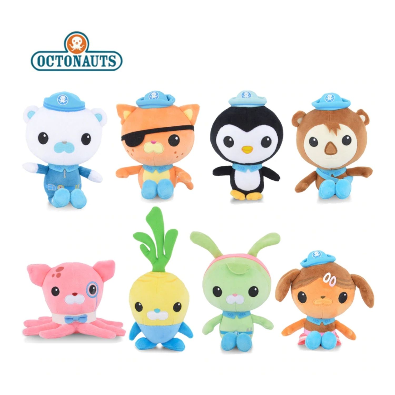 Boneco Pelucia Octonautas Pepe Pinguim, Polo Polar, Kwazii Gato  - Game Land Brinquedos