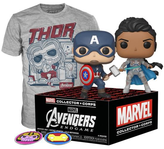 Box Funko Pop Marvel Collector Corps Endgame Caixa Exclusiva  - Game Land Brinquedos